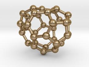 0016 Fullerene c34-1 c2 in 14K Yellow Gold