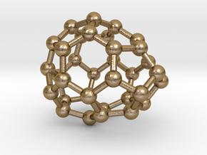 0017 Fullerene c34-2 cs in Polished Gold Steel