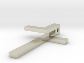 Folded Cross in 14k White Gold