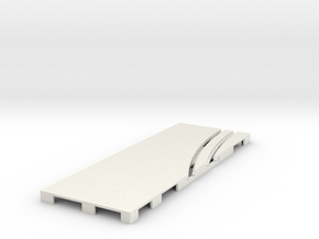 P-65stp-straight-lh-curve-inner-145r-100-pl-1a in White Natural Versatile Plastic