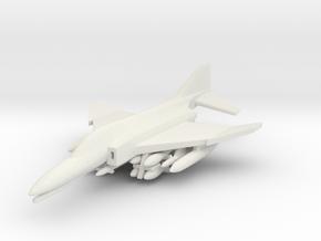1/285 Scale (6mm) F-4E Phantom  w/ordnance in White Natural Versatile Plastic