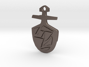 Third Doctor's T.A.R.D.I.S. Key Pendant in Polished Bronzed Silver Steel