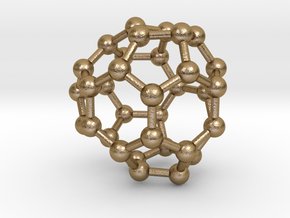 0021 Fullerene c34-6 c3v in Polished Gold Steel