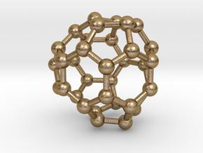 0021 Fullerene c34-6 c3v in Polished Gold Steel