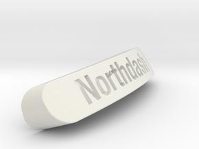 Northdash Nameplate for SteelSeries Rival in White Natural Versatile Plastic