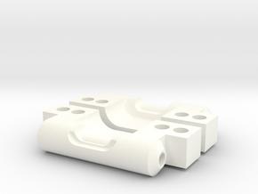 NIX63601 Rear Arm Mounts for RC10 (0deg/0deg) in White Processed Versatile Plastic