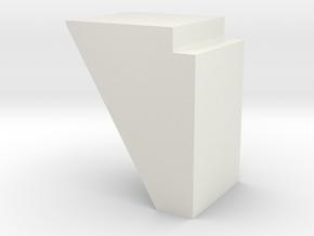 N scale Bridge Abutment #1 in White Natural Versatile Plastic
