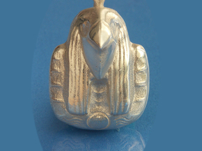 Egyptian God Ra Pendant in Natural Silver