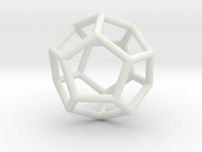 0022 Fullerene c20ih Bonds (Dodecahedron) in White Natural Versatile Plastic