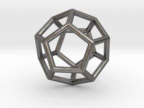 0022 Fullerene c20ih Bonds (Dodecahedron) in Polished Nickel Steel