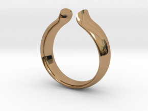 Omega Ring in Polished Brass