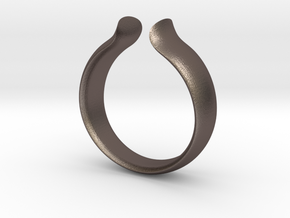 Omega Ring in Polished Bronzed Silver Steel