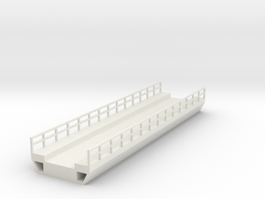 N Modern Concrete Bridge Deck Single Track 140mm in White Natural Versatile Plastic