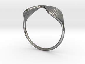 Flow Ring 02 in Fine Detail Polished Silver