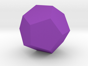 Dodecahedron in Purple Processed Versatile Plastic