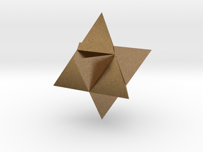 Star Tetrahedron (Merkaba) in Natural Brass