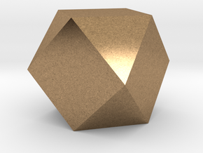 Cube Octahedron (Vector Equilibrium) in Natural Brass