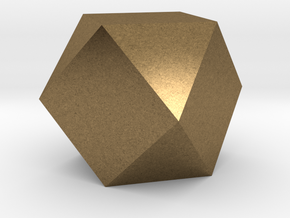 Cube Octahedron (Vector Equilibrium) in Natural Bronze