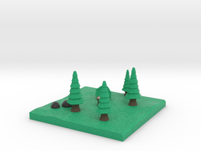 Low-Poly Forest [Beveled & Hollowed] in Full Color Sandstone