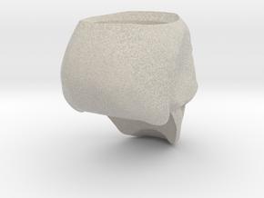 Skull Ring Size 8.25 in Natural Sandstone