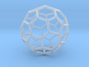 0024 Fullerene c60-ih Bonds/Truncated icosahedron in Smooth Fine Detail Plastic