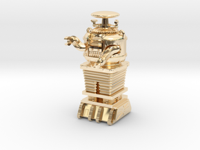 "1.22 inch Bot X-97-B9-D5 in""Frosted Ultra Detail""  in 14K Yellow Gold"