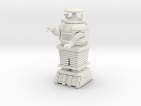 """1.22 inch Bot X-97-B9-D5 in""""Frosted Ultra Detail""""  in White Natural Versatile Plastic"""