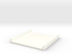 Tray part A version 003 in White Processed Versatile Plastic