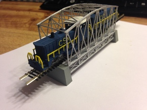 67ft Truss Bridge Z Scale in Smooth Fine Detail Plastic