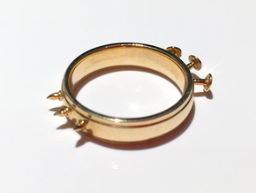 Nailed Wedding Ring - Size 9 in Polished Brass