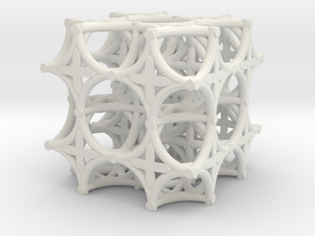Torus Truss (2 x 2 x 2) in White Natural Versatile Plastic