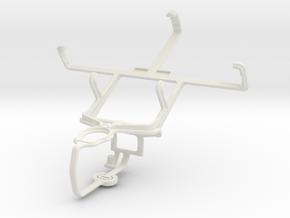 Controller mount for PS3 & Alcatel OT-988 Shockwav in White Natural Versatile Plastic