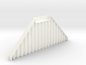 N Scale Bridge Abutment Sheet Piling (55mm) in White Processed Versatile Plastic