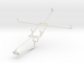 Controller mount for Xbox One Chat & Asus Memo Pad in White Natural Versatile Plastic