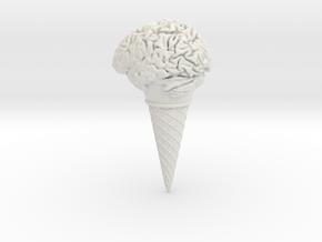 Icecream Brain in White Natural Versatile Plastic