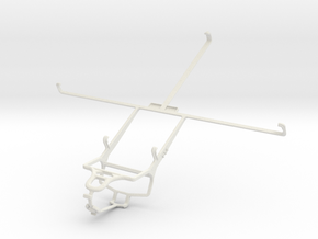 Controller mount for PS4 & Asus Transformer Pad TF in White Natural Versatile Plastic