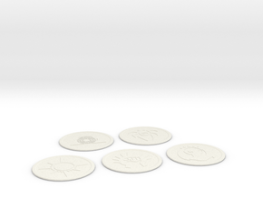 Ravnica Coasters Blank 1 in White Natural Versatile Plastic