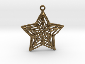 Star Pendant in Natural Bronze