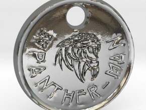 ZWOOKY Style 77 Sample - keychain panther in Fine Detail Polished Silver