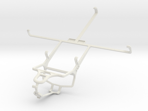 Controller mount for PS4 & BlackBerry PlayBook WiM in White Natural Versatile Plastic