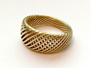 Twisted Ring - Size 7 in Natural Brass