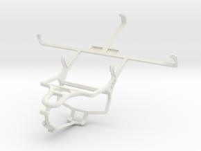 Controller mount for PS4 & BLU Studio 5.5 in White Natural Versatile Plastic