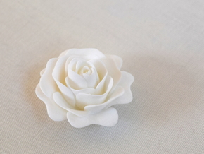 Rose in White Processed Versatile Plastic