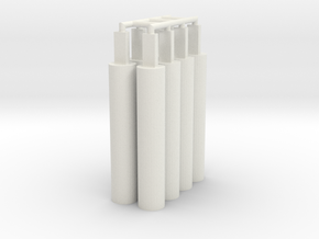 8x Pegs 2.0 in White Natural Versatile Plastic