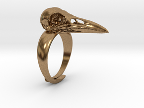 Crow Ring - adjustable in Natural Brass