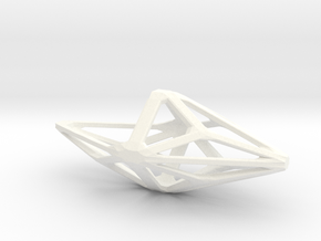 Polyhedral Hanging Planter in White Strong & Flexible Polished