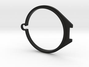 58mm Flip Lens Cap -base in Black Natural Versatile Plastic