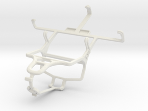 Controller mount for PS4 & Dell Smoke in White Natural Versatile Plastic