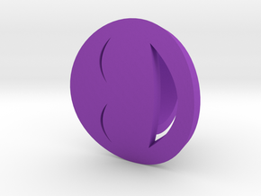 Smile/Laughing Ring Size 6, 16.5 mm in Purple Processed Versatile Plastic