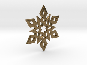 Snowflake Charm 2 in Natural Bronze